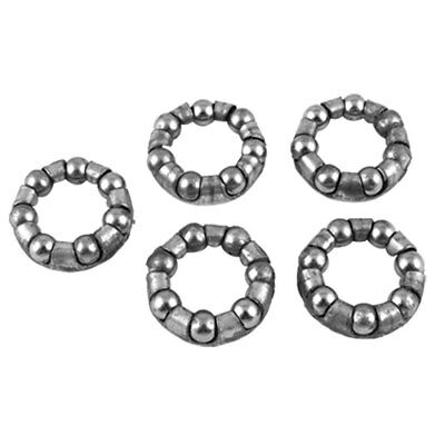 Bicycle Mid Axle Axis 7 Balls Retainer Bearings 5 Pcs