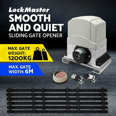 Sliding Electric Gate Opener 1200KG Automatic Motor Remote Kit Heavy Duty 6M