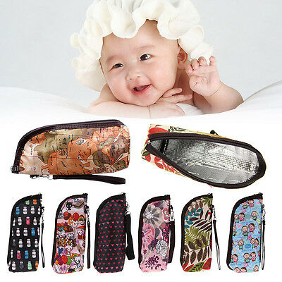 Mummy Insulation Tote Bags Baby Feeding Milk Bottle Warmer Bag Travel Portable