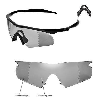 6f91ca704d Walleva Polarized Transition Lenses and Black Nosepads 4 Oakley M Frame  Hybrid