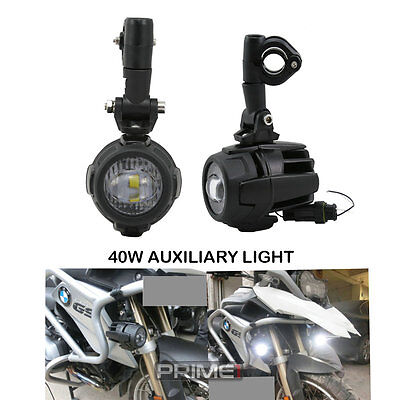 2x40W LED Auxiliary Lamp Fog Spot Driving Lights For Motorcycle BMW K1600 R1200G
