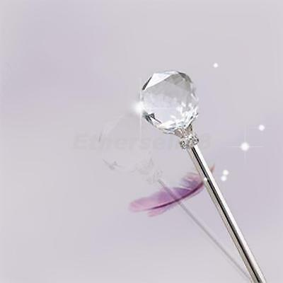 Clear Crystal Princess Fairy Magic Wand Bride Costume Party Scepter Props