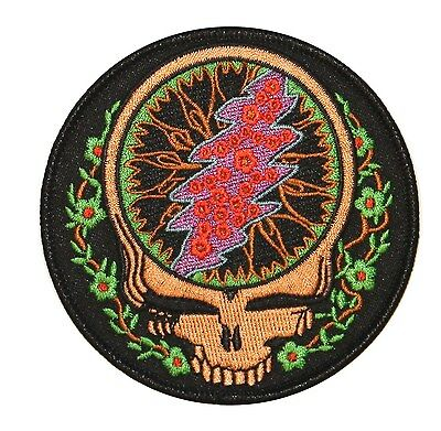 Grateful Dead Steal Your Face Vines Embroidered Iron On Applique Patch P3804
