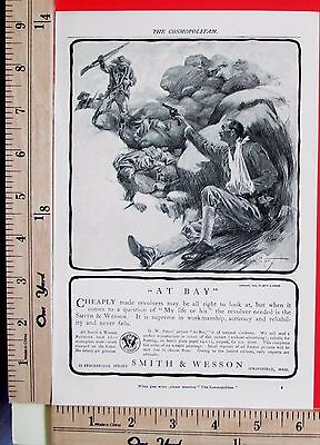 1903 SMITH & WESSON Schofield revolver SPANISH-AMERICAN WAR Magazine Ad 7156