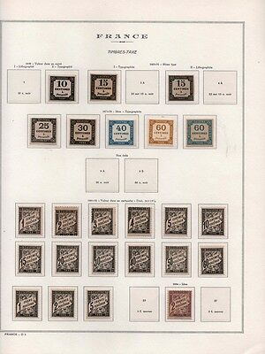 France Stamp Exceptionnelle Collection Timbres Taxe 1859-1941 Neufs Ttb/sup