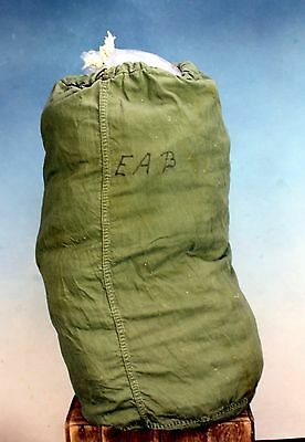Vintage Military Large Duffel Bag Pack Laundry Army Green Canvas - AS IS