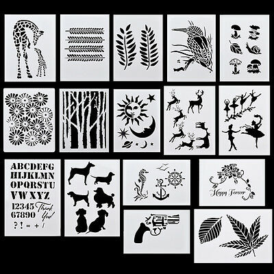 Layering Masking Spray Paint Template Drawing Stencils DIY Embossing Scrapbook
