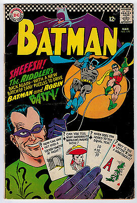Batman #179 3.0 2Nd Silver Age App Of The Riddler Off-White Pages Silver Age
