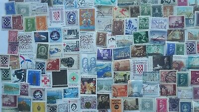 500 Different Croatia Stamp Collection