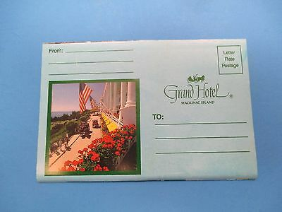 Vintage Souvenir Postcard Folder Mackinac Island Grand Hotel S342