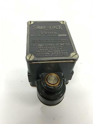 NEW OEM Vintage SNAP LOCK National Acme Limit Switch Made In USA 16D-200-STER