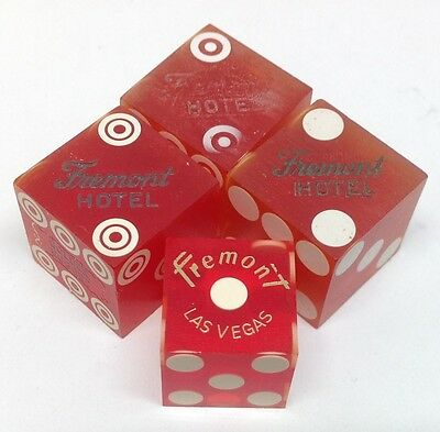 Casino Dice - Fremont Hotel Four Used Mixed Dice Las Vegas Nv - Free Shipping