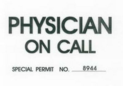 Physician On Call Windshield Pass
