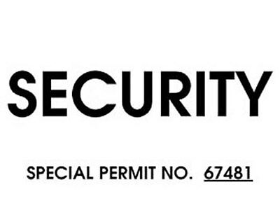 Security Windshield Pass
