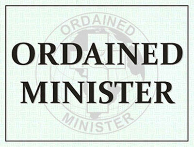 Ordained Minister Windshield Pass