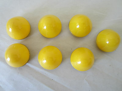 Lot of 7 Plastic Lens for Pilot Light, Push to Test Button Lens, Yellow, 28mm