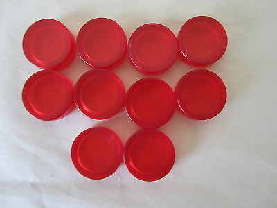 Lot of 10 Plastic Lens for Pilot Light, Push to Test Button Lens, Red, 20mm