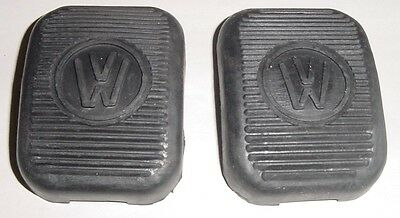 VW split oval beetle bug bus rubber brake and clutch pedal pads pair 2