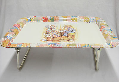Holly Hobbie & Robby TV Lap Folding Tray Sharing Doubles the Fun 1979 Vintage