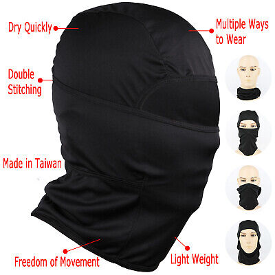 Black Balaclava Sun Protection Full Face Mask Cap Motorcycle Costume Game 5 PCS