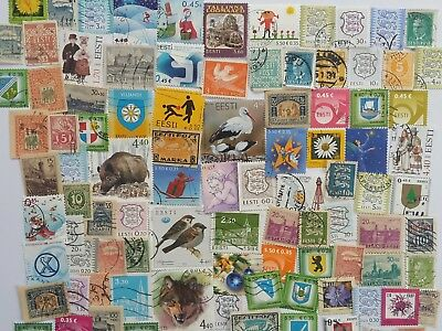 300 Different Estonia Stamp Collection