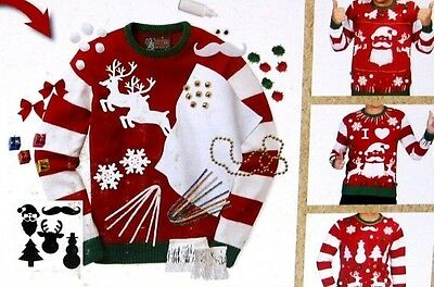 Ugly Christmas Sweater Kit Mens Large Womens Medium Special Edition