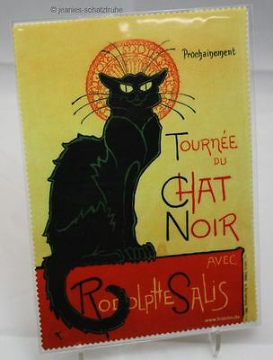 Glasses cleaning cloth Steinlen Chat Noir Black Cat Microfibre Cleaning Cloth