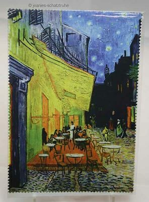 """Glasses cleaning cloth van Gogh """"Cafe de Nuit"""" Microfibre Cleaning Cloth"""