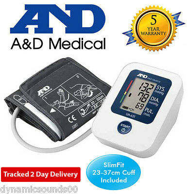 A&D Medical UA651SL Upper Arm Blood Pressure Monitor 30 Memory, Cuff 27-37cm New