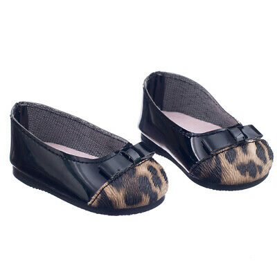 """Leopard Pump Dolly Flat Shoes Accessories fit 18"""" American My Life Doll"""