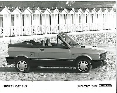 Innocenti Koral Cabrio 1991 Original Press Photograph Mint Condition