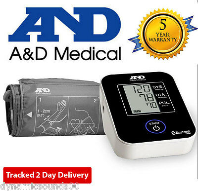 A&D Medical Wireless Connected Bluetooth LCD Blood Pressure Monitor UA-651BLE