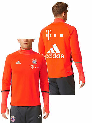 Sponsor T Mobile Bayern Munchen Adidas Training Sweatshirt Felpa 2016 17 Orange