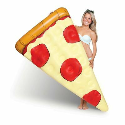 BM Pizza Slice Pool Float 6ft Inflatable Pizza Shaped Fun Sea Water Lilo
