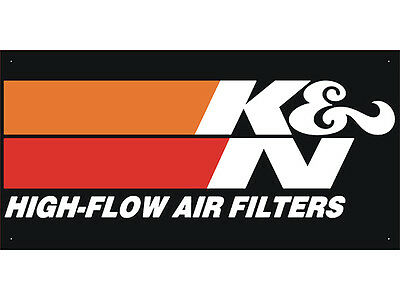 K & N FILTERS Car Auto Parts Club Shop Display Advertising Banner