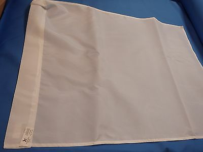 10 EMBROIDERY blank polyester Flag 27 x 37 inch House 400 Denier WHITE plain 2x3