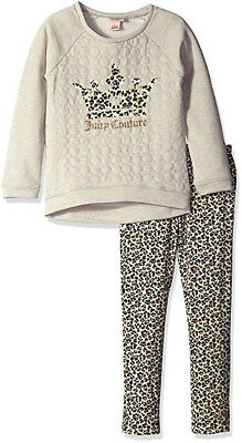 Juicy Couture Girls Oatmeal French Terry Top 2pc Legging Set Size 4 5 6 6X