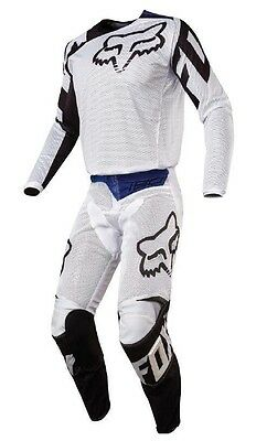 New 2017 Fox Racing Adult 180 White Airline Race Gear Combo Jersey Pants Mx Atv