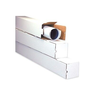 """Square Mailing Tubes, 5""""x5""""x48"""", White, 25/Bundle"""