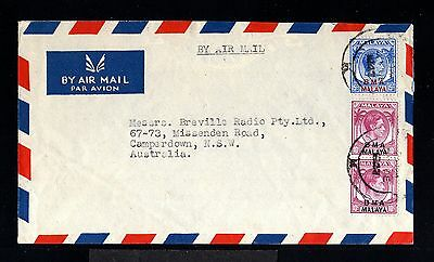 12136-MALAYA-AIRMAIL COVER SINGAPORE to CAMPERDOWN (australia)1947.WWII.BRITISH