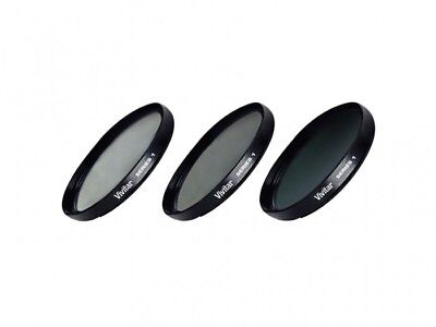 Vivitar 49mm UV CPL ND8 3 Piece Multi Coated Filter Kit Series 1  - VIV-FKND-49
