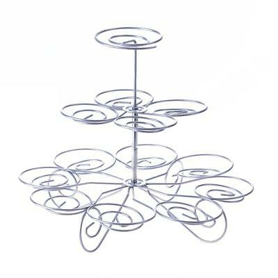 Cake Stand Wedding Birthday Party Display 3 Tier 13 Cupcakes Holder Tray Tower