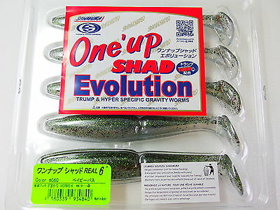 """SAWAMURA - One' up SHAD Evolution REAL 6"""" #060 BABY BASS"""