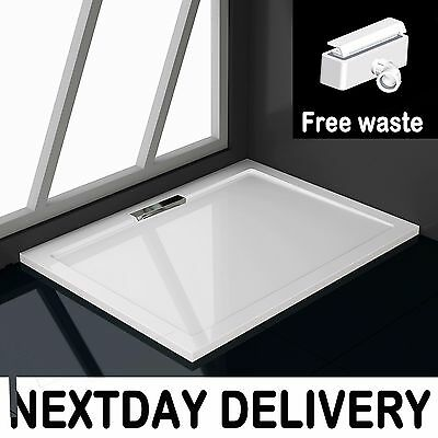 1000x800x40mm Rectangle Shower Enclosure Tray Free Hidden Waste NEXTDAY DELIVERY