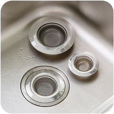 1x Kitchen Sink Strainers Stainless #E Steel Basket Drain Protector Stopper Plug