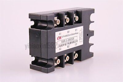 New DC to AC 3 Phase Solid State Relay SSR-25DA 25A 5-32VDC / 380VAC