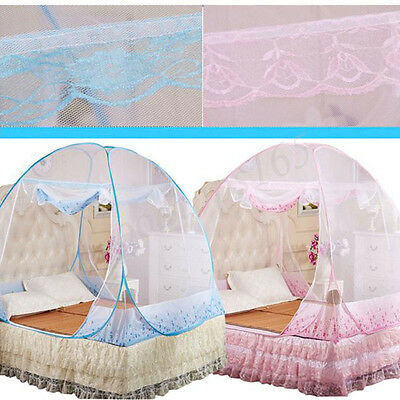 Bed Canopy Mosquito Insects Netting Round Dome Full Queen King Bedding Net Tent