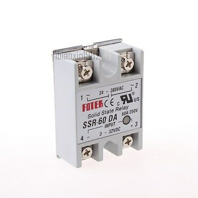 New SSR-60DA SSR Solid-state Solid State Relay 60A Output AC24-380V