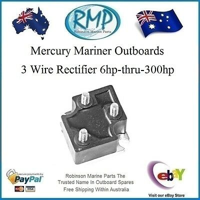 A New RMP Mercury Mariner Outboard 3 Wire Rectifier 6hp-thru-300hp # R 816770