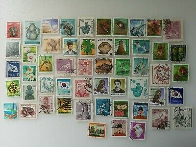 500 Different South Korea Stamp Collection